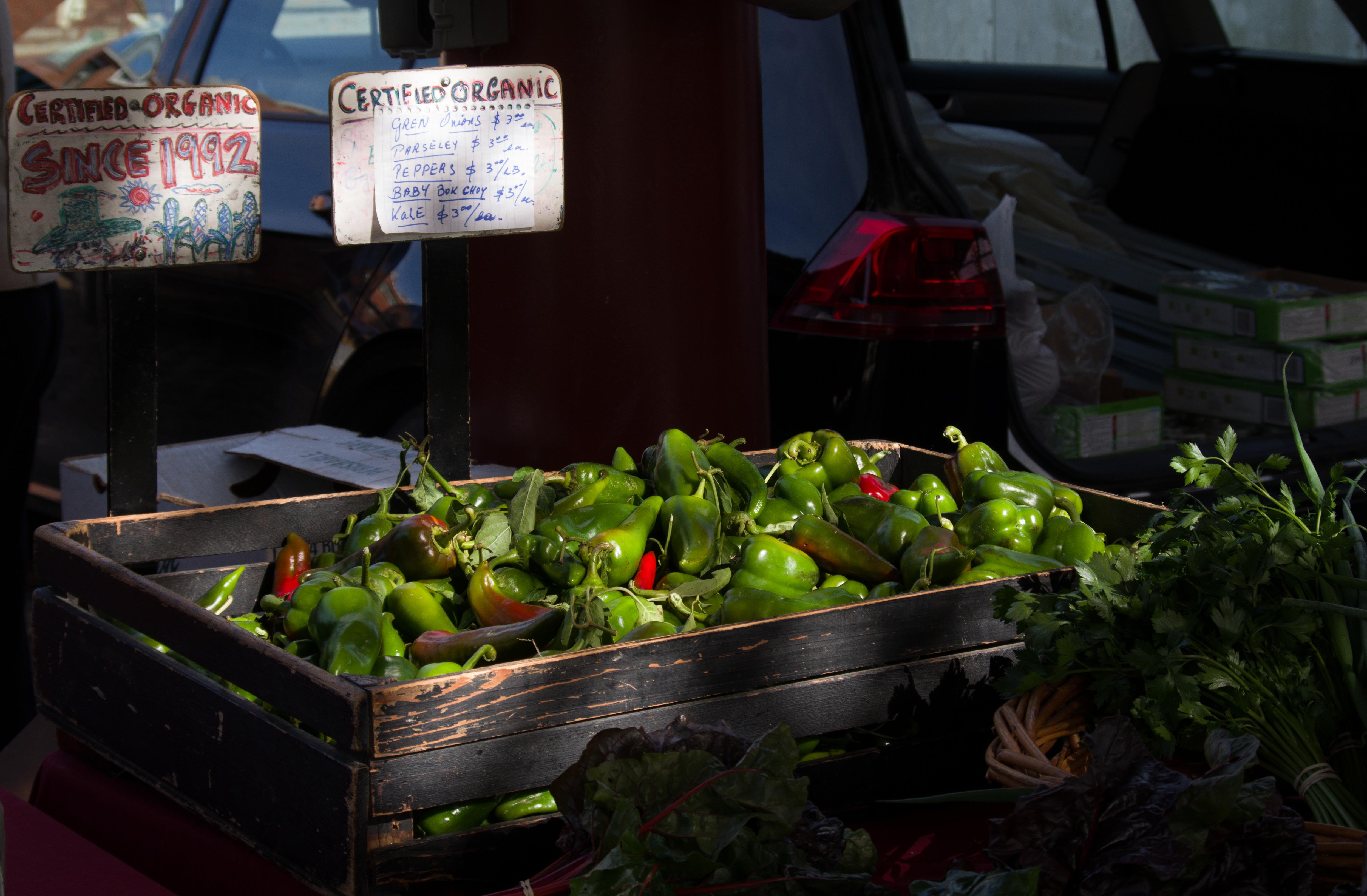 Fresh, organic produce at a farmer's market. Photo © Jillian Regan 2017